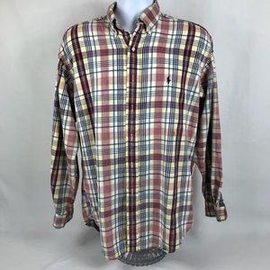 Ralph Lauren Polo Plaid Button Down Shirt Sz Med